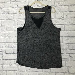 RBX Black/Gray Racerback mesh design Top XXL
